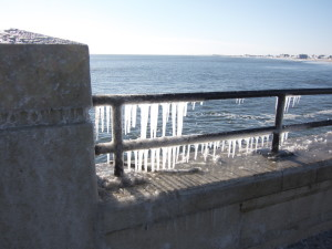 Icicles at Hampton Beach
